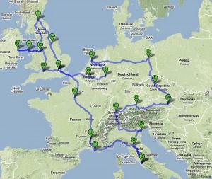 mapa-Europy-trasa